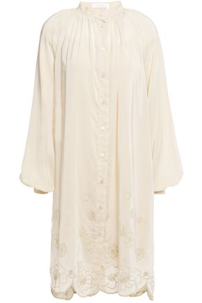 SEE BY CHLOÉ Broderie anglaise satin-crepe dress