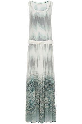 MISSONI فستان طويل بتصميم متشابك من الأمام محاك بالكروشيه