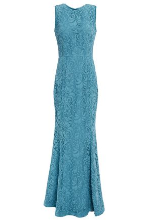 REBECCA VALLANCE Mae cutout fluted corded lace gown