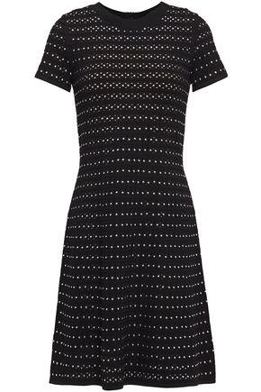 MICHAEL MICHAEL KORS Studded pointelle-knit mini dress