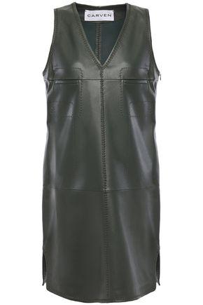 CARVEN Leather mini dress