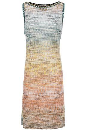 MISSONI فستان محاك بالكروشيه لون ميتاليك