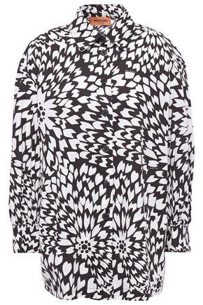 MISSONI قميص من قماش البوبلين القطني المطبع برسومات