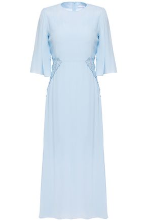 SEE BY CHLOÉ Embroidered appliquéd crepe de chine midi dress