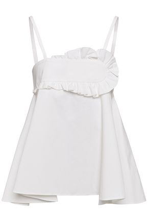 CARVEN Ruffled cotton top