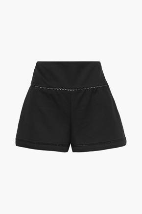 REDValentino Lattice-trimmed cotton-blend twill shorts