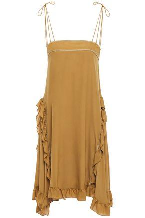 SEE BY CHLOÉ فستان من قماش كريب دي شين مع كشكش