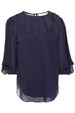 SEE BY CHLOÉ Metallic georgette blouse