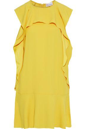 REDValentino Ruffled crepe mini dress