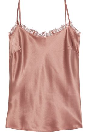 CAMI NYC The Fynn lace-trimmed silk-satin camisole