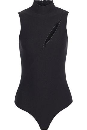 ALIX NYC Huron zip-detailed cutout stretch-jersey thong bodysuit