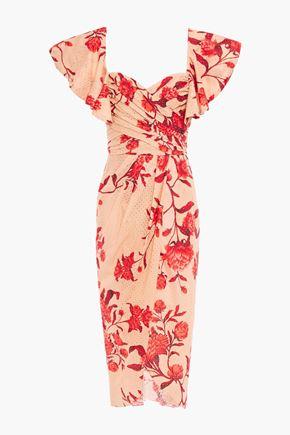 JOHANNA ORTIZ Siglos De Historia wrap-effect floral-print broderie anglaise cotton dress
