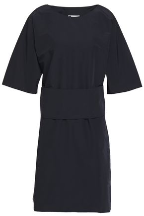 LANVIN Belted cotton-blend mini dress