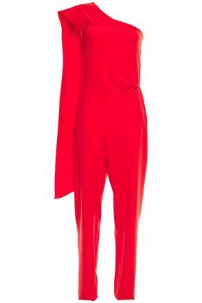 LANVIN One-shoulder draped cady jumpsuit