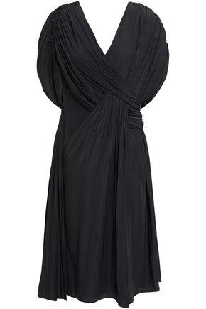 LANVIN فستان بتصميم ملموم من قماش كريب دي شين