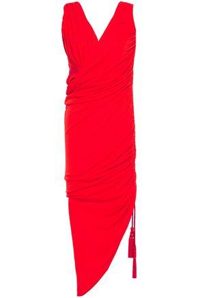 LANVIN فستان بتصميم منسدل وملموم من الجيرسي والكريب