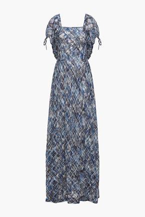 MISSONI فستان طويل بتصميم ملموم من القطن المشغول بالكروشيه