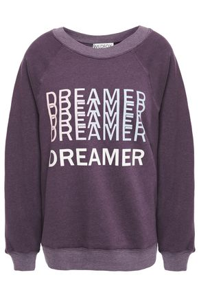 WILDFOX Sommers Dreamer printed cotton-blend fleece sweatshirt