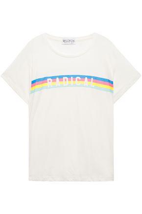 WILDFOX Printed cotton-blend jersey T-shirt