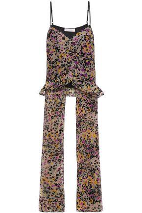 SEE BY CHLOÉ توب بتصميم منسدل من الحرير الديفوريه المطبع برسومات