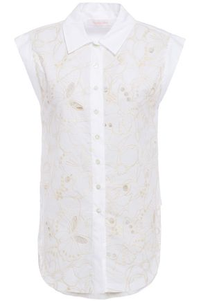 SEE BY CHLOÉ Broderie anglaise cotton shirt