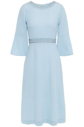 GOAT Islay embellished wool-crepe dress