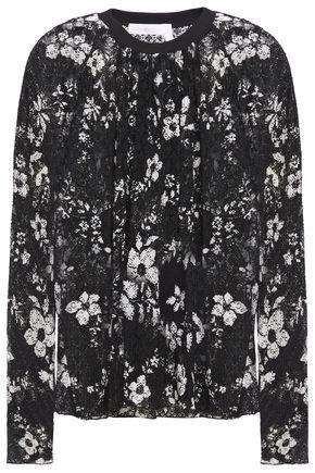 SEE BY CHLOÉ Floral-print plissé-lace top
