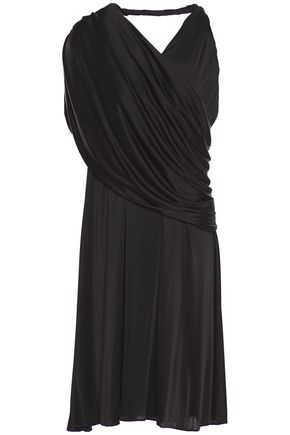 LANVIN One-shoulder draped jersey dress