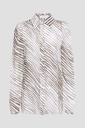 SEE BY CHLOÉ قميص من النسيج الرقيق المطبع برسومات