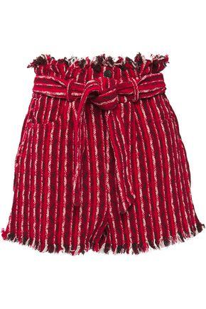 IRO Vanity frayed cotton-jacquard shorts