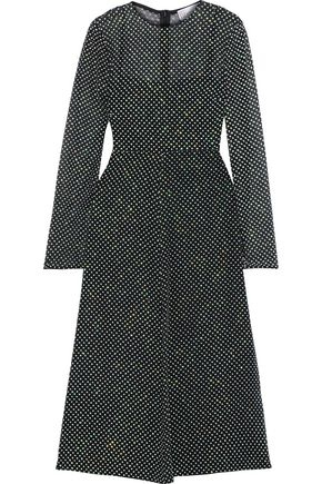 REDValentino Glittered silk-georgette midi dress