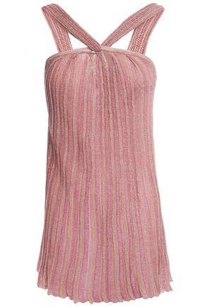 MISSONI Metallic crochet-knit top