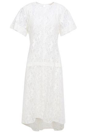 CHLOÉ فستان من الدانتيل المصنوع من مزيج القطن