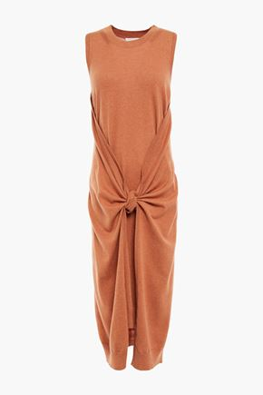 SEE BY CHLOÉ Draped wool and cotton-blend dress