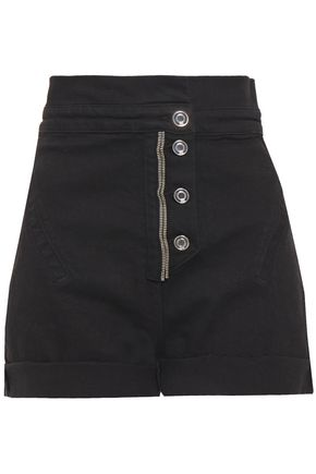 RTA Zip-embellished denim shorts