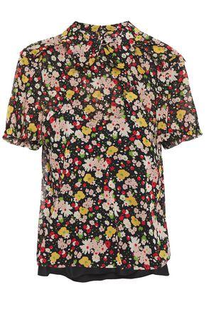 REDValentino Floral-print stretch-silk top