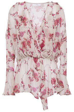 """IRO قميص تحتي """"لينيت"""" من قماش كريب دي شين مزين بالترتر"""