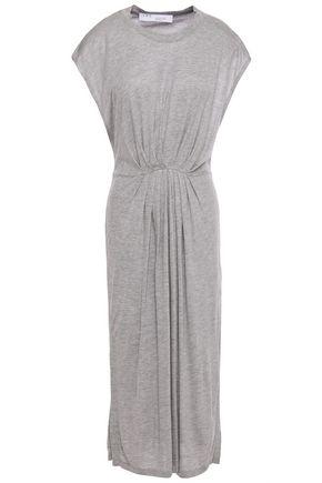 IRO فستان متوسط الطول وبتصميم ملموم من مزيج الجيرسي المرن