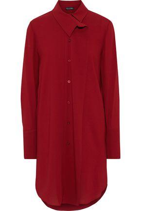 OSCAR DE LA RENTA Crepe mini shirt dress