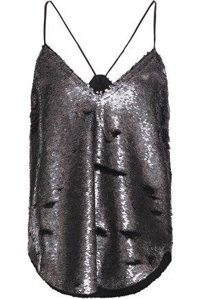 IRO Sequined mesh camisole