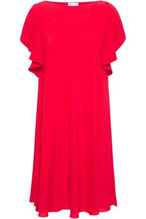 REDValentino Ruffle-trimmed crepe de chine mini dress