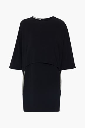 STELLA McCARTNEY Krista cape-effect beaded cady mini dress
