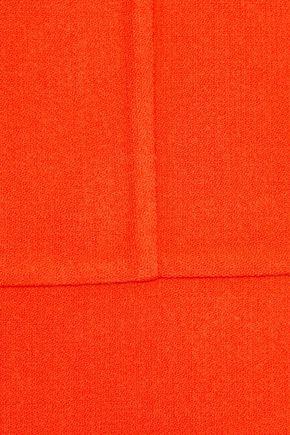 OSCAR DE LA RENTA Gathered wool-blend dress