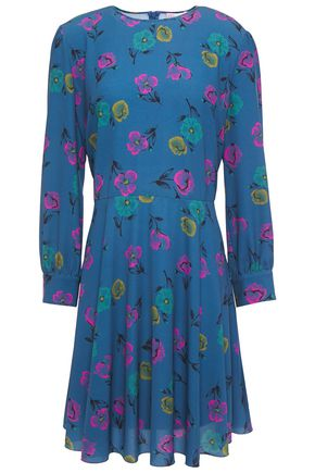 REDValentino Floral-print crepe mini dress