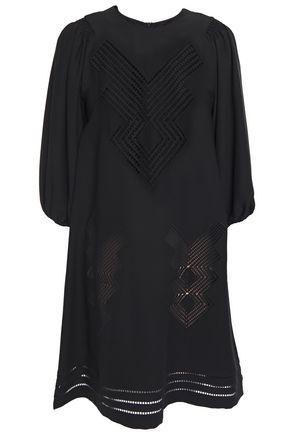 REDValentino Crochet-trimmed satin-crepe mini dress