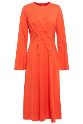 SIES MARJAN Pleated stretch-cady midi dress