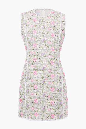 GIAMBATTISTA VALLI Embroidered bouclé-tweed mini dress