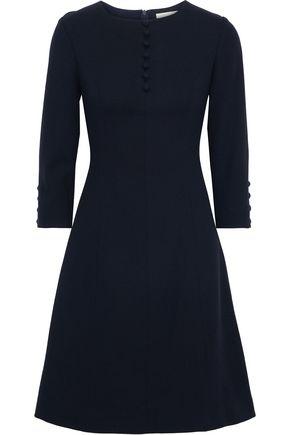GOAT Carlotta button-detailed wool-crepe dress