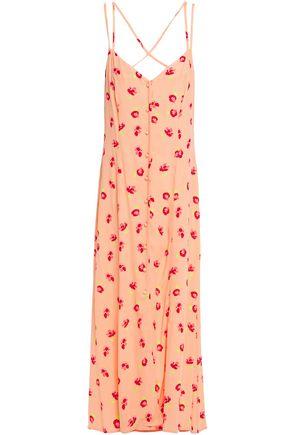 GHOST Thea floral-print crepe maxi slip dress