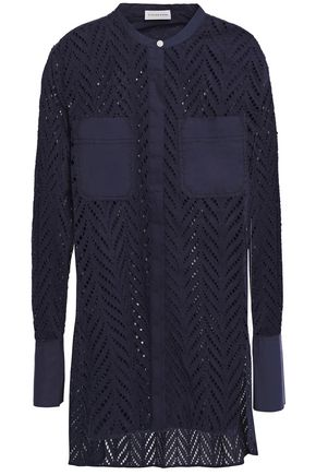 BY MALENE BIRGER Poplin-paneled broderie anglaise cotton blouse